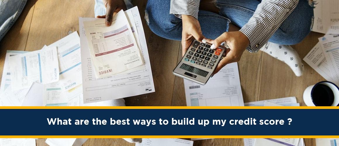 build up my credit score